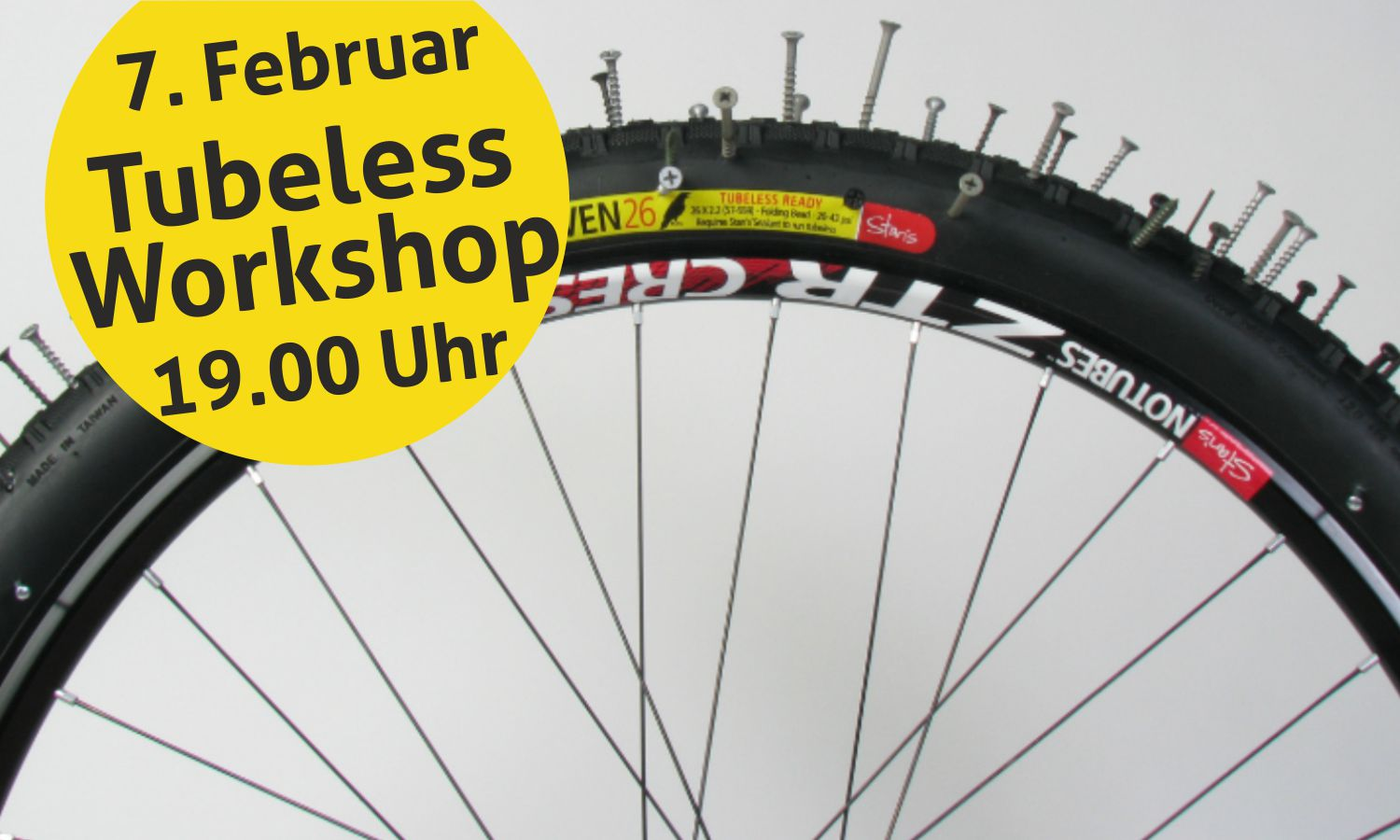Tubeless-Workshop am 7. Februar